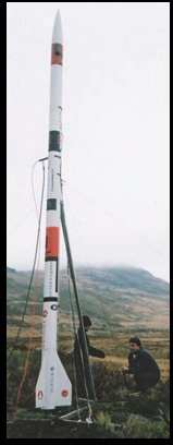 Deimos-2 on its launch tower