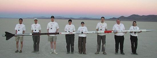 The MARS Deimos Odyssey Rocket and Launch Crew - September 2002